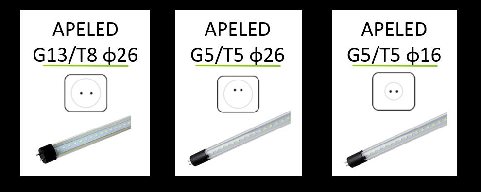 Trzonki hermetyczne IP67 G13/T8 G5/T5